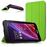 Cooling Asus Memo Pad 7 Me170cx Me170 Case, Ultra Slim Shell Leather Case Cover with Auto Sleep / Wake Feature for Asus Memo Pad 7 Me170cx Me170c Me170 K012, Asus Fonepad 7 Fe170cg Fe170 (Green)