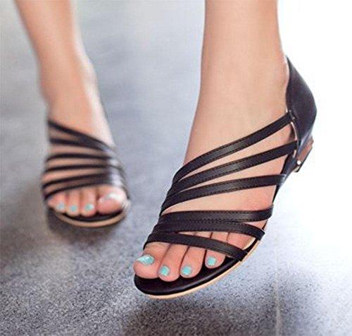 003 KUKI piatta sandali donna da con casual pendenza Sandali e rAqWrZz