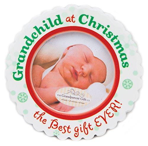 - The Grandparent Gift Ceramic Photo Ornament, Grandchild's Christmas