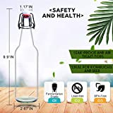 YEBODA Clear Glass Beer Bottles for Home Brewing