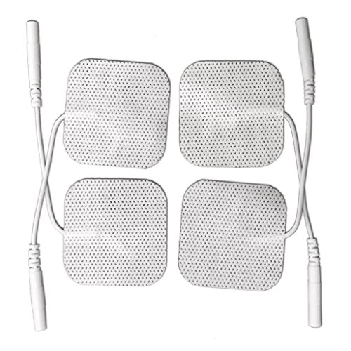 5 packs (20 pcs) Healthmateforever pin inserted massage pads patches, square electrode replacement pads, electronic pulse massager massage pads.