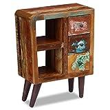 Cheap Festnight Reclaimed Wood Nightstand 3 Storage Drawers Shelves End Side Table Bedside Cabinet Living Room Bedroom Home Furniture 23.6″ x 11.8″ x 31.5″