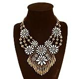 Generic Vintage_ crystal flower necklace pendant women girl _sk_sss