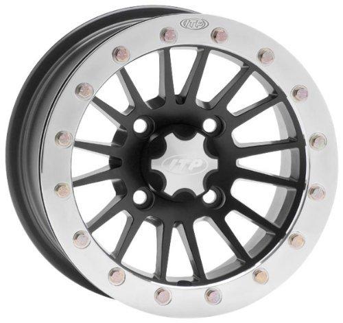 ITP SD Beadlock Machined/Matte Black ATV Wheel Front/Rear 14x7 4/156 - (4+3)