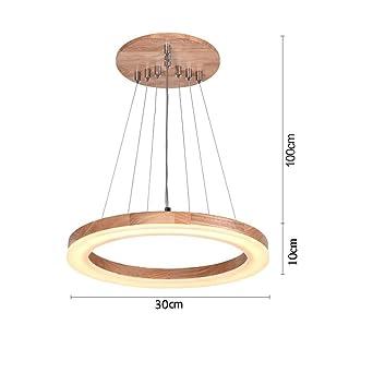 Led Ring Holz Kronleuchter, Kreative Restaurant Wohnzimmer Esstisch  Kronleuchter Hochzeit Dekoration Acryl Lampen Und