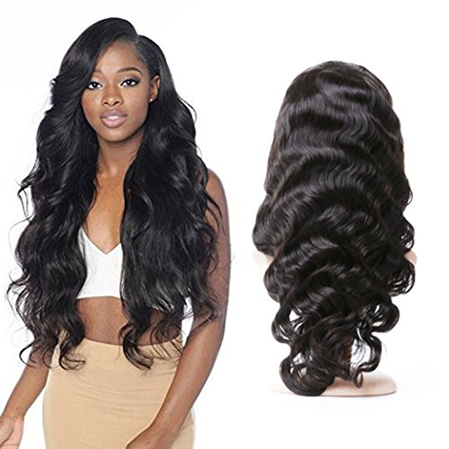 H&N Hair Brazilian Virgin Hair Full Lace Wigs Body Wave Human Hair Wigs with Baby Hair 130% Density For Black Women Natural Color 14inch