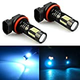 jdm parts nissan - JDM ASTAR 2400 Lumens Extremely Bright PX Chips H11 H8 LED Fog Light Bulbs for DRL or Fog Lights, Ice Blue