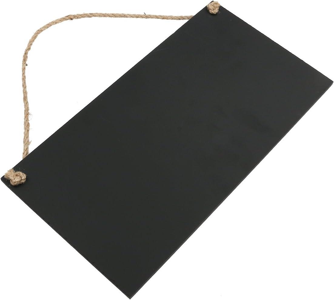 Schild f/ür Nachrichten abl/öschbare Kreidetafel zum Aufh/ängen Tinksky 26└x 14/cm rechteckig Schwarz