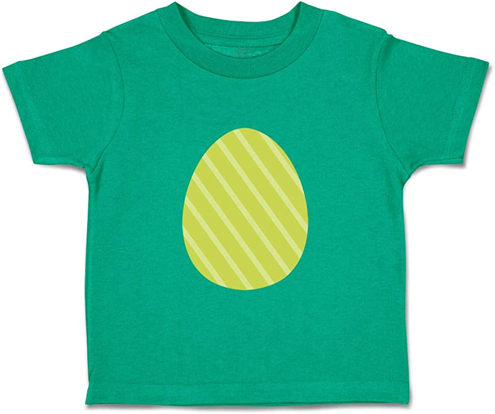 Custom Baby /& Toddler T-Shirt Straight Lines Egg Yellow Cotton Boy Girl Clothes