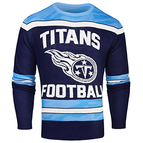 FOCO Tennessee Titans Ugly Glow in The Dark Sweater - Mens - Mens Extra Large by FOCO