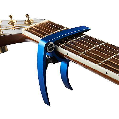 Aluminum Metal Universal Guitar Capo,Guitar Accessories,Guitar Clamp Suitable for Flat Fretboard Electric and Acoustic Guitar - Single-handed Trigger Style Guitar Capo (Blue)