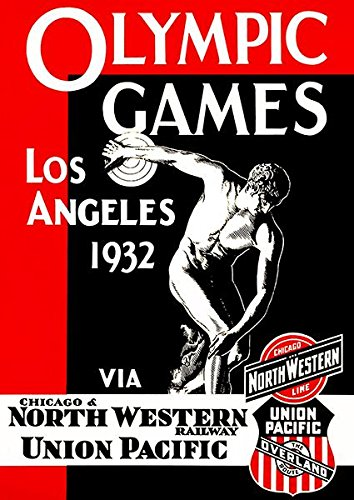 1932 Olympic Games - Los Angeles CA - Promotional Advertising Poster