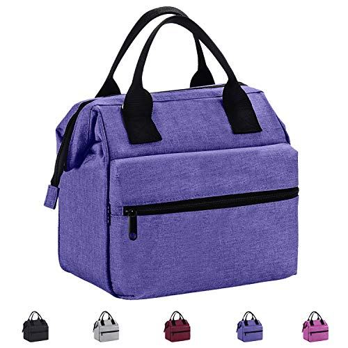 Srise Lunch Box Insulated Lunch Bag For Men & Women Meal Prep Lunch Tote Boxes(Purple) ...