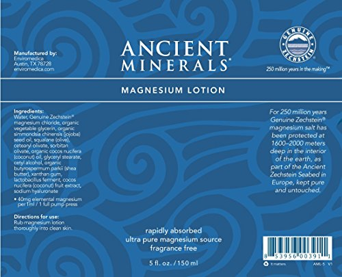 Ancient Minerals Magnesium Lotion of Pure Genuine Zechstein Magnesium Chloride - Best uesd for Topical Skin Application on Sensitive Skin(5oz) by Ancient Minerals (Image #6)