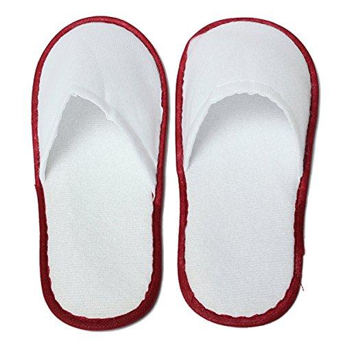 Pantoffeln - SODIAL(R)10 Paar Schuhe nach Maennlich Weiblich Einweg-Salon Blanc Hotel Maison Rouge +