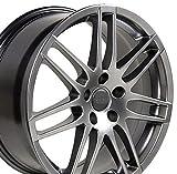 audi a5 rims - 18x8 Wheel Fits Audi - Audi RS4 Style Hyper Silver Rim