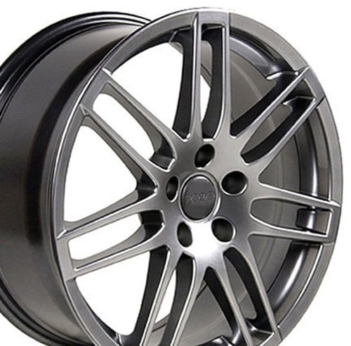 (OE Wheels 17 Inch Fit Audi RS4 Hyper Silver 17x7.5 Rims SET)