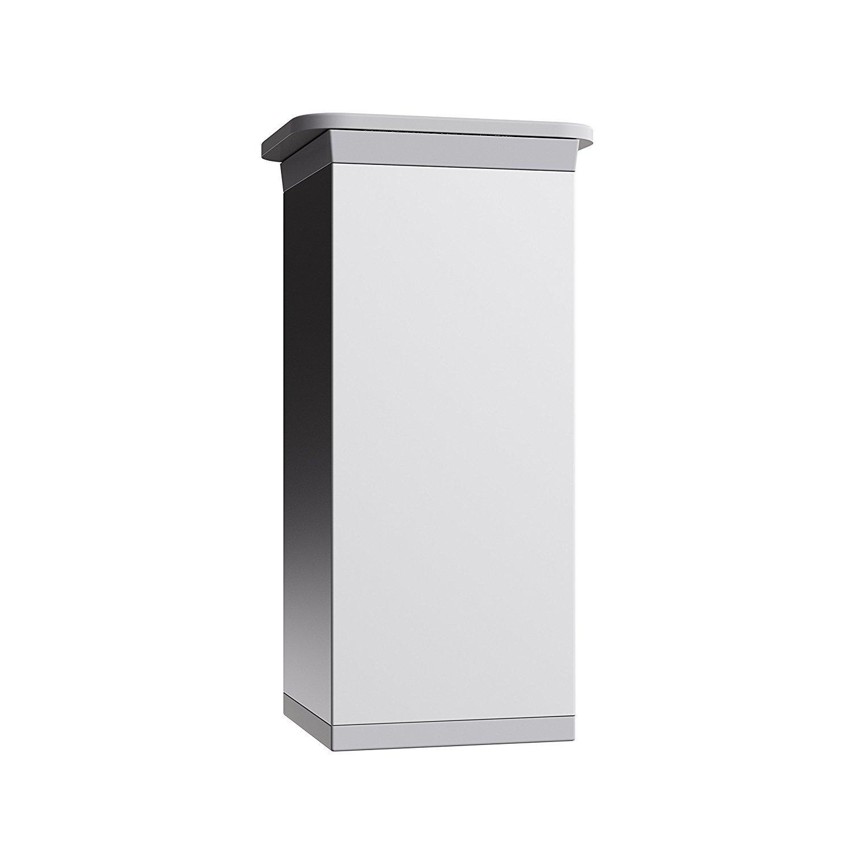 Altura 100mm 4 piezas Dise/ño: Aluminium Tornillos incluidos Perfil cuadrado: 45 x 45 mm Sossai E4MF-N Patas para mueblesExklusiv