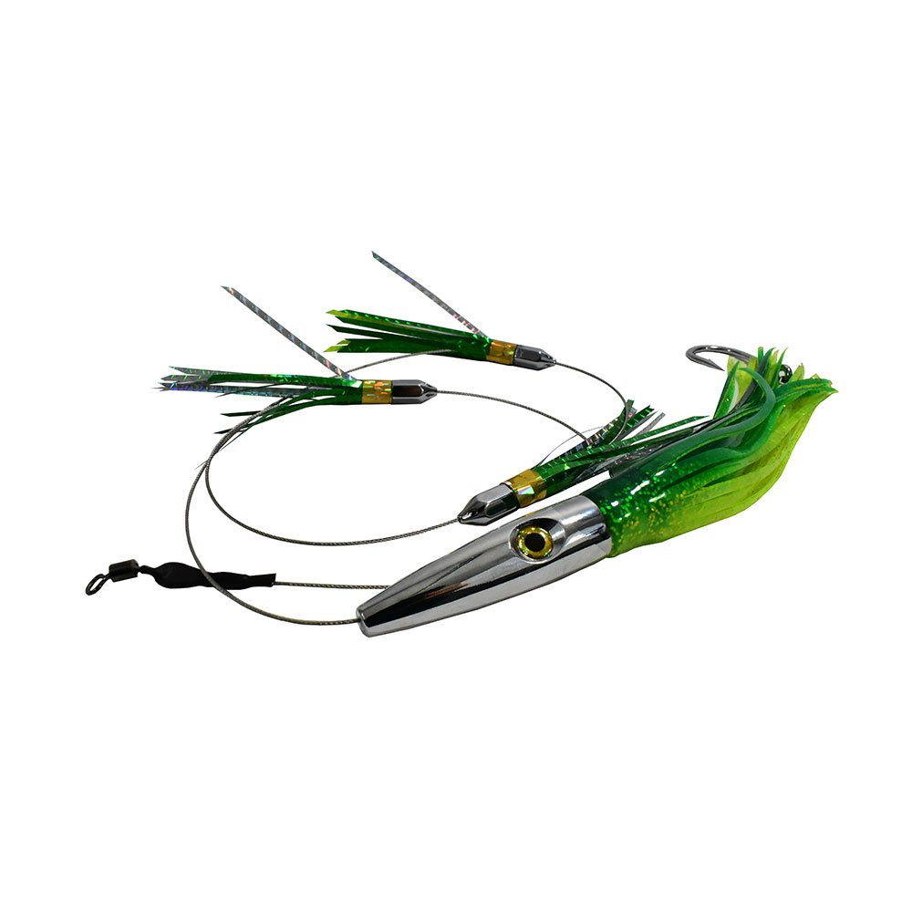 MagBay Lures High Speed Daisy Chain Savage Plomerito 12'' Wahoo Lure by (Green)