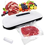Chase Kitchen Automatic Vacuum Sealer Moist & Dry Food Sealing Machine with Roll Bags Starter Kit Air Suction Hose