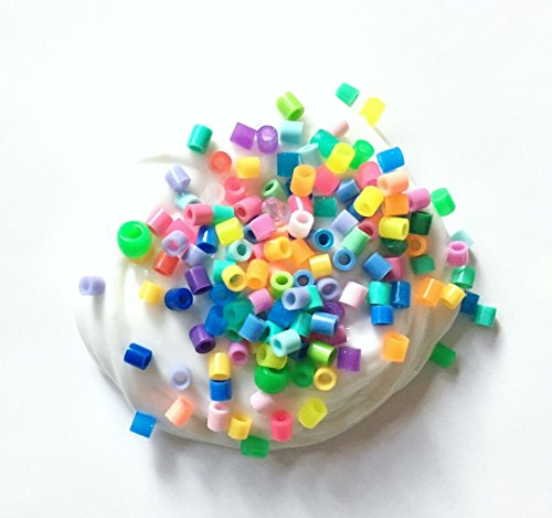 Crunchy Slime, Pink Blue Orange Yellow Plastic Bead Slime from Greening Boutique