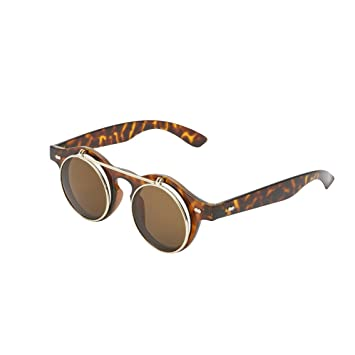8b2b93355c Steampunk Flip Up Lens Sunglasses - Available in 4 Colours (Tortoise  Shell)  Amazon.co.uk  Toys   Games