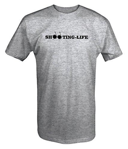 Shooting Life SmokingNRA Gun Rights Hunting Military PoliceT shirt - Large