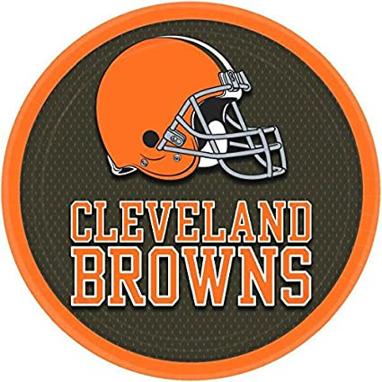 Amazon Com Cleveland Browns Collection 9 Round Party Plates