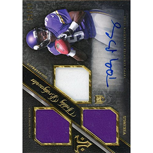 - Teddy Bridgewater Minnesota Vikings Autographed 2014 Topps Triple Threads Patch Card - Topps - NFL Autographed Football Cards