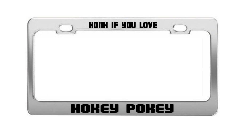 WHAT IF THE HOKEY POKEY IS WHAT IT/'S ALL ABOUT funny License Plate Frame