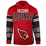 Arizona Cardinals Big Logo Hooded Sweater Large