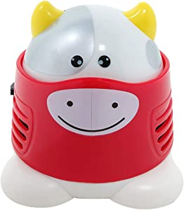 Allydrew Cute Portable Mini Vacuum Cleaner for Home and Office, Cow