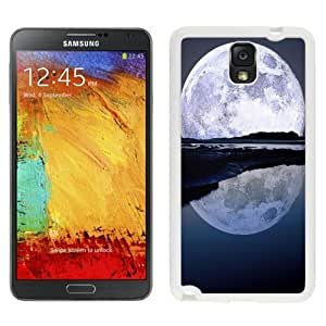 NEW Unique Custom Designed Samsung Galaxy Note 3 N900A N900V N900P N900T Phone Case With Super Moon Water Reflection_White Phone Case wangjiang maoyi