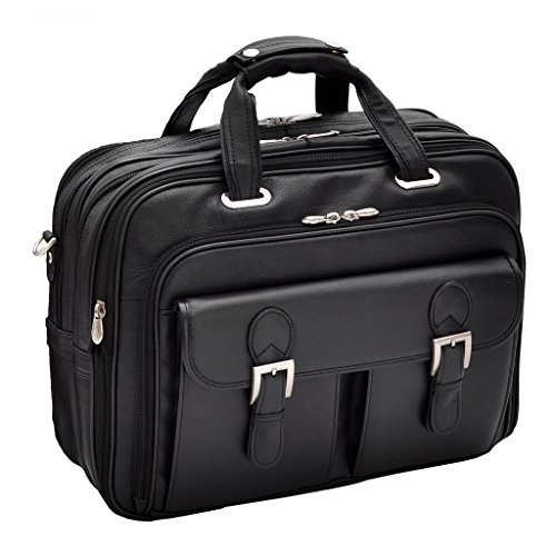 Siamod Ceresola Black Checkpoint-Friendly 17'' Detachable-Wheeled Laptop Case 46005 by Siamod