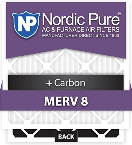 Nordic Pure 13x21x1ExactCustomM8+C-12 Merv 8 + Carbon AC Furnace Filter, 12 Piece