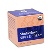 Motherlove - Nipple Cream, Organic Herbal Salve for Soothing Sore Cracked Nursing Nipples, Lanolin-Free, Unscented Ointment, Great as a Pump Lubricant, No Need to Wash Off Prior to Breastfeeding, 1 oz