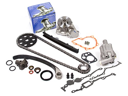 (Evergreen TK3005WOPA Fits Nissan KA24E Timing Chain Kit with Oil Pump AISIN Water Pump)