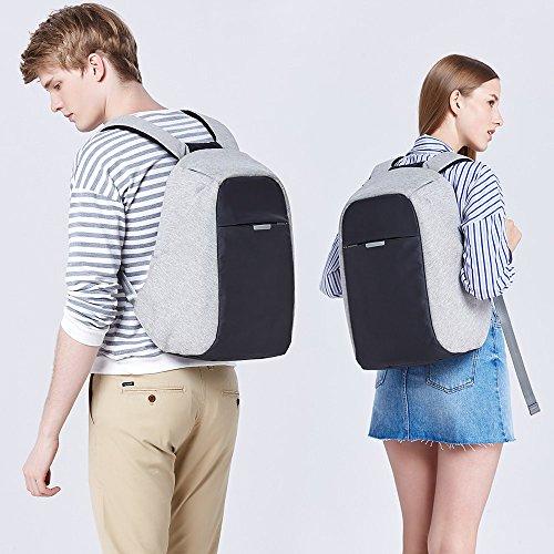 Oscaurt Anti-theft Travel Backpack Business Laptop Book School Bag with USB Charging Port for Student Work Men & Women