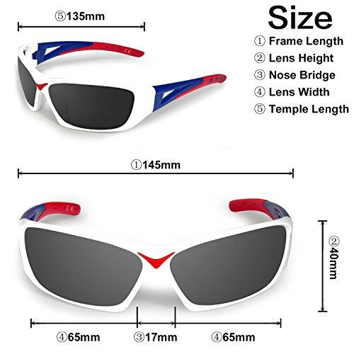 400 AMZTM para Ciclismo Hombre Gris Gafas Mujer UV Gafas Sol Deportivas de Ultraligero de Protección Polarizadas grOCwxgq