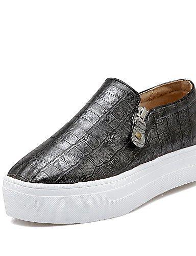 ZQ gyht Zapatos de mujer - Plataforma - Plataforma / Creepers / Punta Redonda - Mocasines - Exterior / Oficina y Trabajo / Casual - Semicuero - , black-us5 / eu35 / uk3 / cn34 , black-us5 / eu35 / uk3 black-us7.5 / eu38 / uk5.5 / cn38