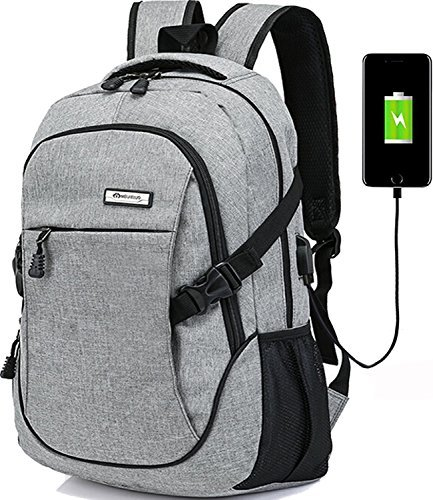 Laptop backpack for men back pack Business Travel School Backpacks External USB Charge Port with Built-in USB Charging Cable
