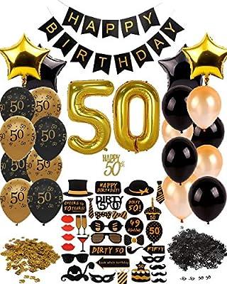 Amazon.com: 50º cumpleaños Decoraciones Suministros para ...