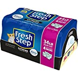 Fresh Step Multi-Cat Scented Litter with the Power of Febreze, Clumping Cat Litter, 34 Pounds (Packaging May Vary)