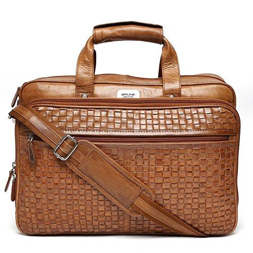 39cb6fc3d6 Brune Leather Tan Laptop Bag