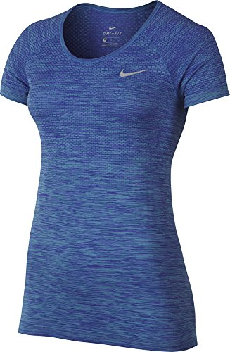 Womens Nike Dry Knit Shortsleeve Top, X-Large, (Paramount Blue/Vivid Sky)