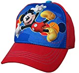 Disney Toddler Boys Mickey Mouse Character 3D Pop Baseball Cap, Red/Blue, Age 2-4