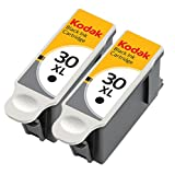 Kodak 30XL Black Ink Cartridge 2 Pack in Bulk Packaging for Kodak ESP 3.2 C310 C315 Office 2150 2170 Hero 3.1 5.1