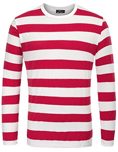red and white striped shirt - 8