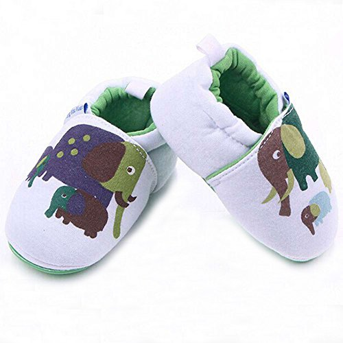 Lidiano Infant/Toddler Baby Non Slip Rubber Soft Sole Cartoon Walking Slip on Shoes for Home/Outdoors (5 M US Toddler, Elephant) - Image 4