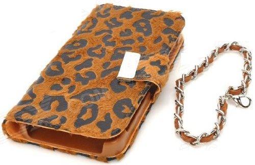 itronik Leopard Luxus HÜLLE TASCHE für APPLE IPHONE 4 4S DELUXE CASE HARDCASE ETUI HÜLLE SCHUTZHÜLLE - Braun Brown